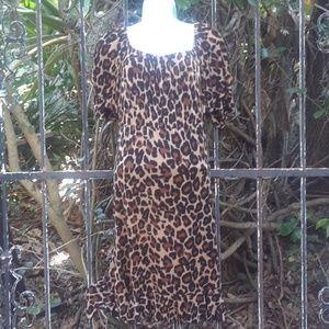 Sexy leopard print dress large